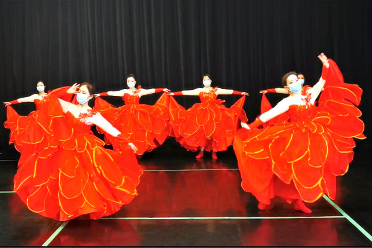 Dancers from the Vancouver Chinese Folk and Minorities Association and The Live in Langley Chinese Association. (Muriel Arnason Library/Special to The Star)