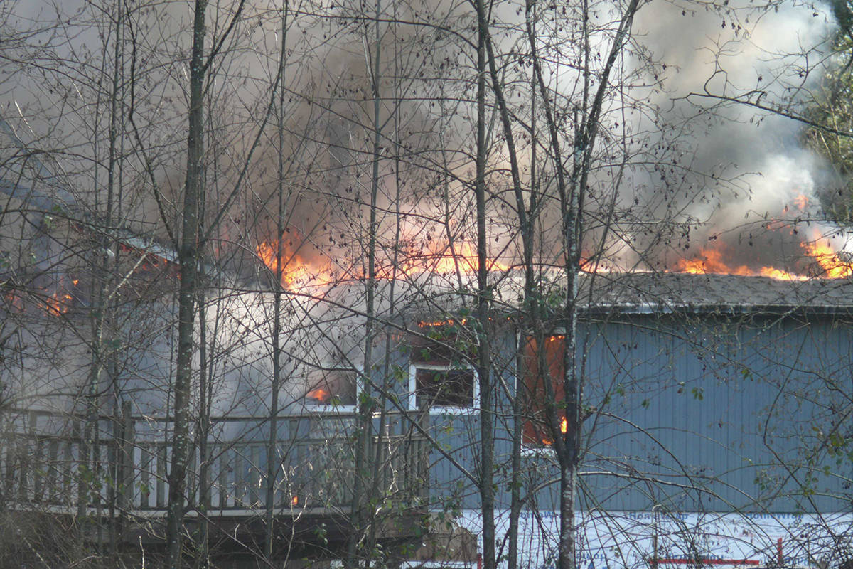 A 'suspicious' fire destroyed this house in the 23300 block of 16th Avenue on Wednesday, Feb. 4. (Langley Advance Times file)