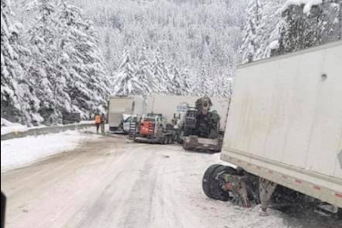 Coquihalla Wednesday morning, Feb. 10, 2020. (Facebook photo)