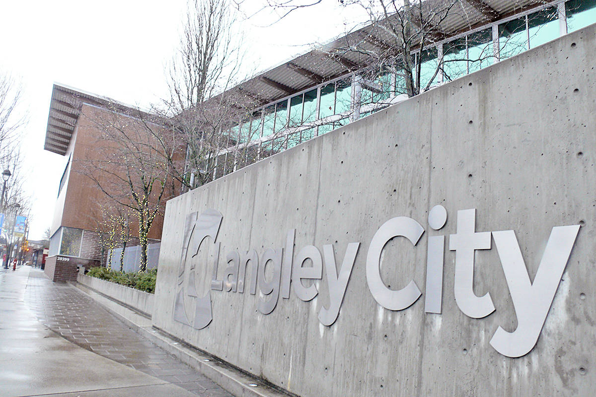 Langley City Council has given preliminary approval to a projected 4.68 per cent tax increase (Dan Ferguson/Langley Advance Times)
