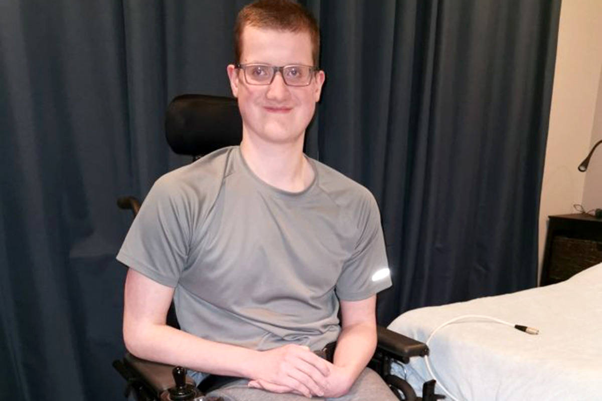 Jeremy Corfe, an Aldergrove resident with spina bifida, will take part in the 55th Annual Variety Show of Hearts Telethon. (Variety/Special to The Star)