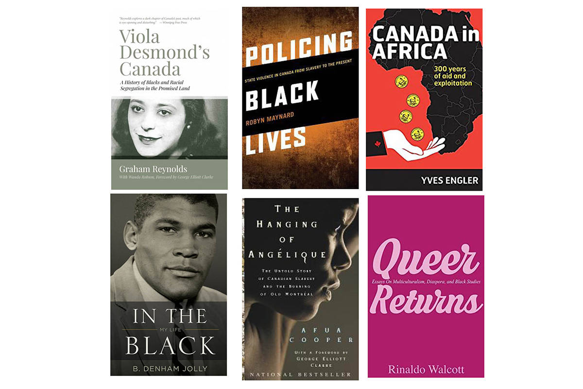 A few of the books available on the topic of Black history in Canada.