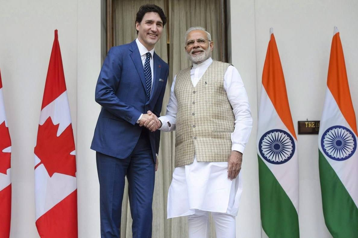 Prime Minister Justin Trudeau meets with Prime Minister of India Narendra Modi at Hyderabad House in New Delhi, India on February 23, 2018. THE CANADIAN PRESS/Sean Kilpatrick
