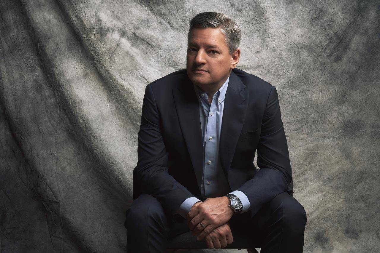 """Netflix co-CEO and chief content officer Ted Sarandos poses in this undated handout photo. Netflix plans to open an office in Canada in what the streaming giant calls """"a big first step"""" toward content creation in this country. THE CANADIAN PRESS/HO, Netflix *MANDATORY CREDIT*"""