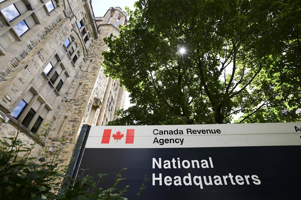The Canada Revenue Agency (CRA) headquarters Connaught Building is pictured in Ottawa on Monday, Aug. 17, 2020. nbsp; THE CANADIAN PRESS/Sean Kilpatrick
