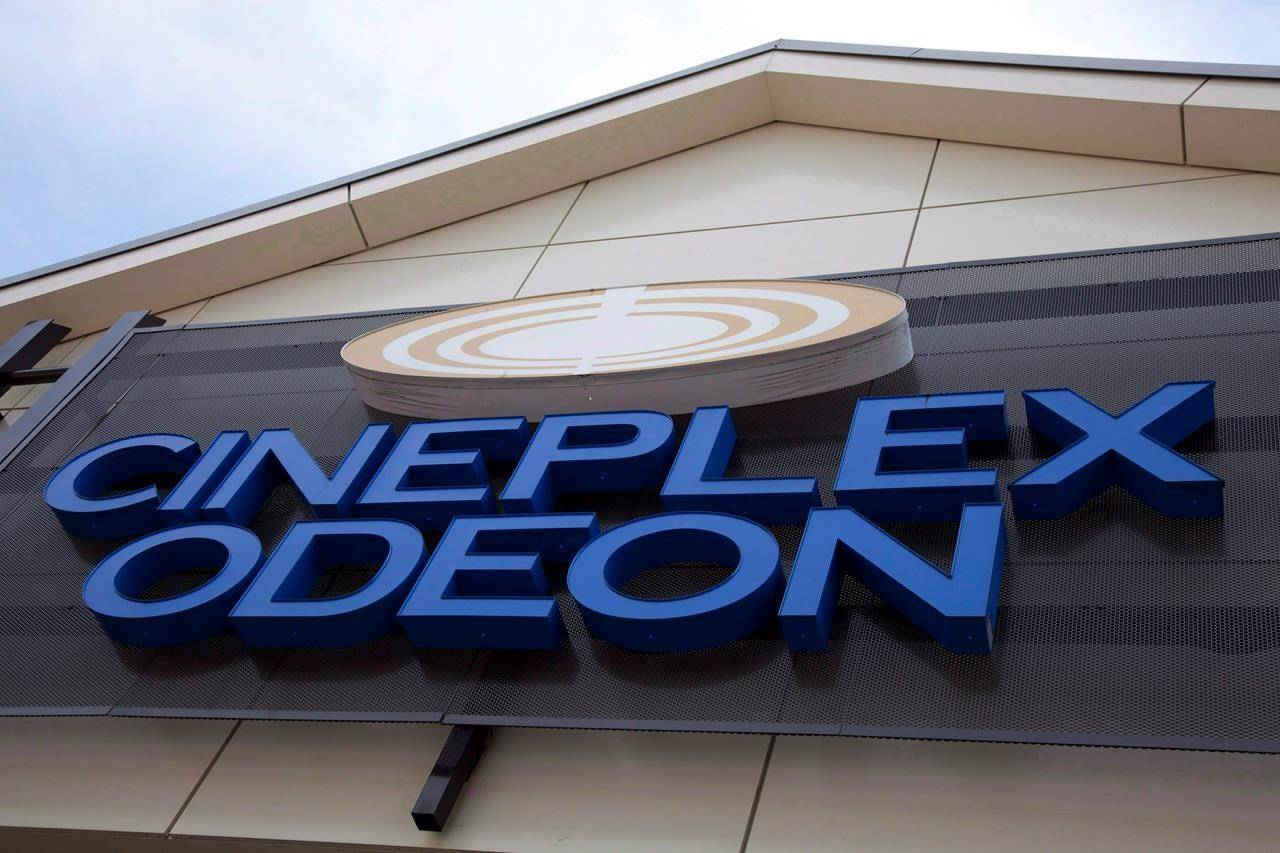 A Cineplex Odeon theatre is pictured in North Vancouver, on May 15, 2012. THE CANADIAN PRESS/Jonathan Hayward
