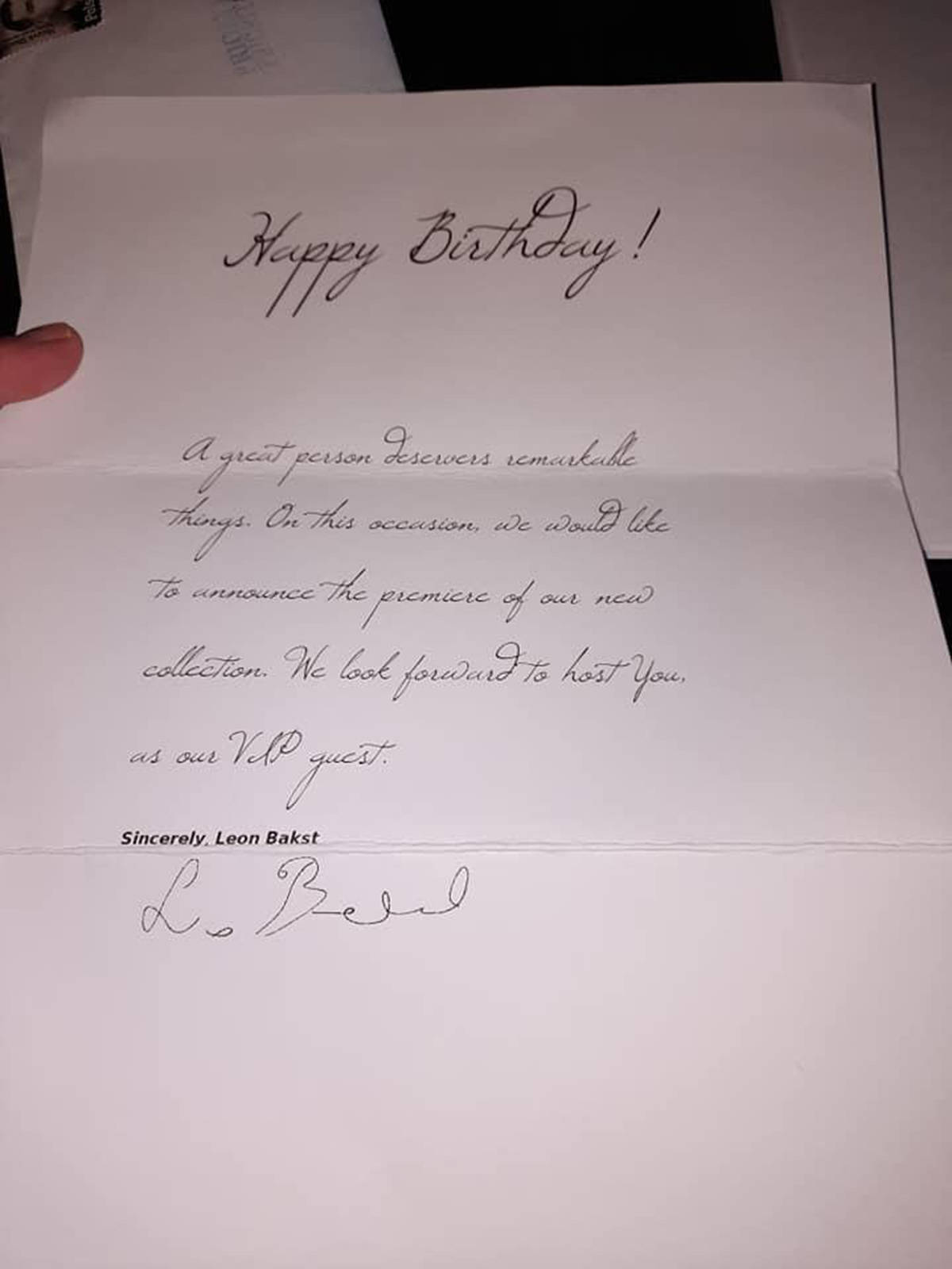 The letter from the Russian artist found in the package. (Twyla Mclachlan photo)
