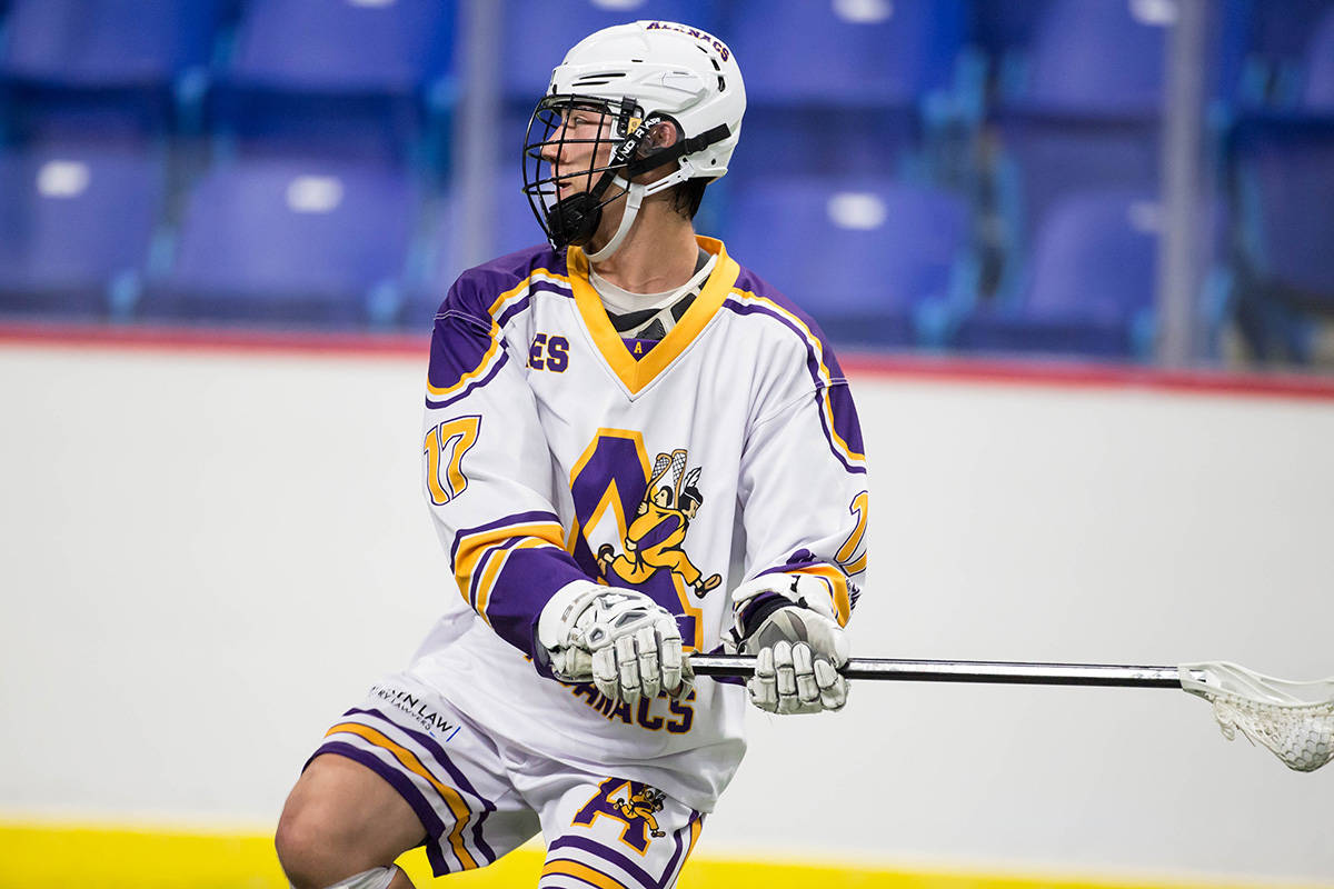 Coquitlam Adanacs' Jalen Chaster competed at the 2019 Minto Cup Championships at Langley Events Centre. Chaster was one of the 63 players selected in the 2021 WLA Graduating Player Junior Draft. (Garrett James/Special to The Star)