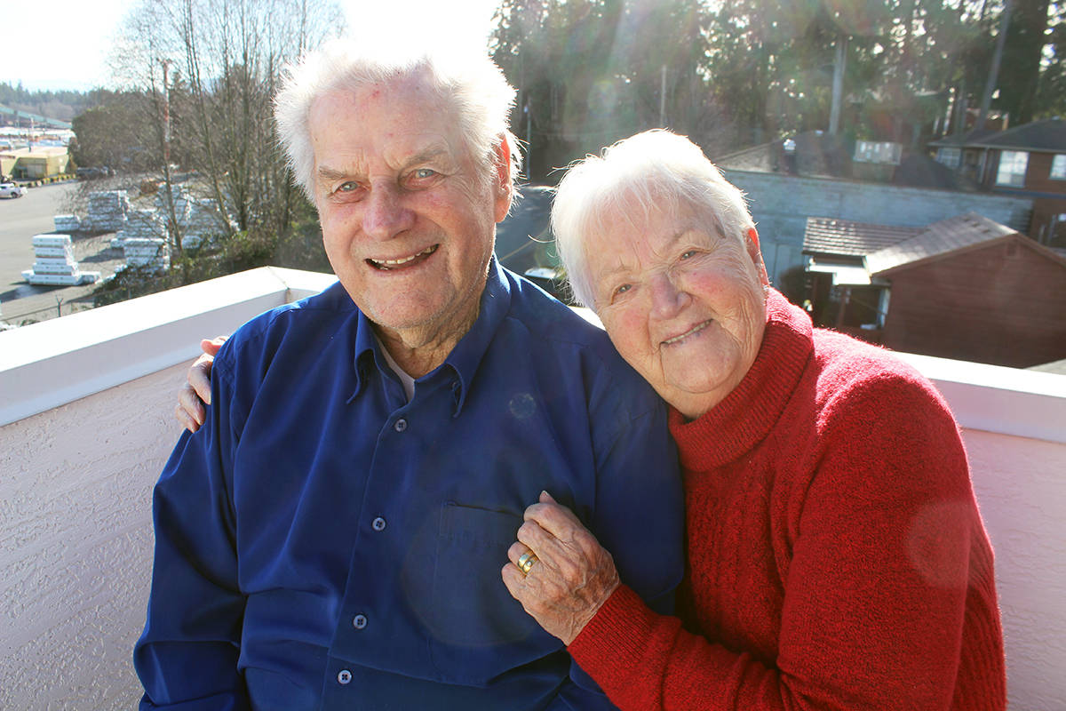 A long and happy life in Chemainus has been very good to Ejlif and Anna Mose. (Photo by Don Bodger)