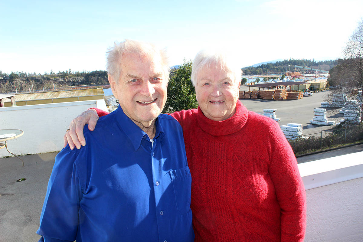 Ejlif and Anna Mose emigrated from Denmark in 1958 and absolutely love Chemainus. (Photo by Don Bodger)