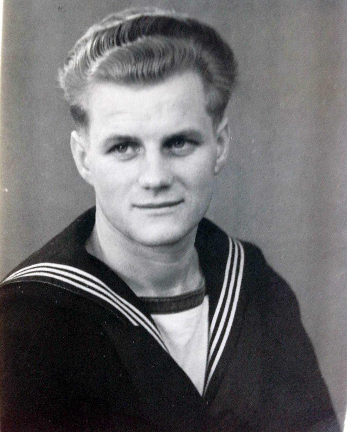 Ejlif in his navy days when he met Anna. (Photo submitted)