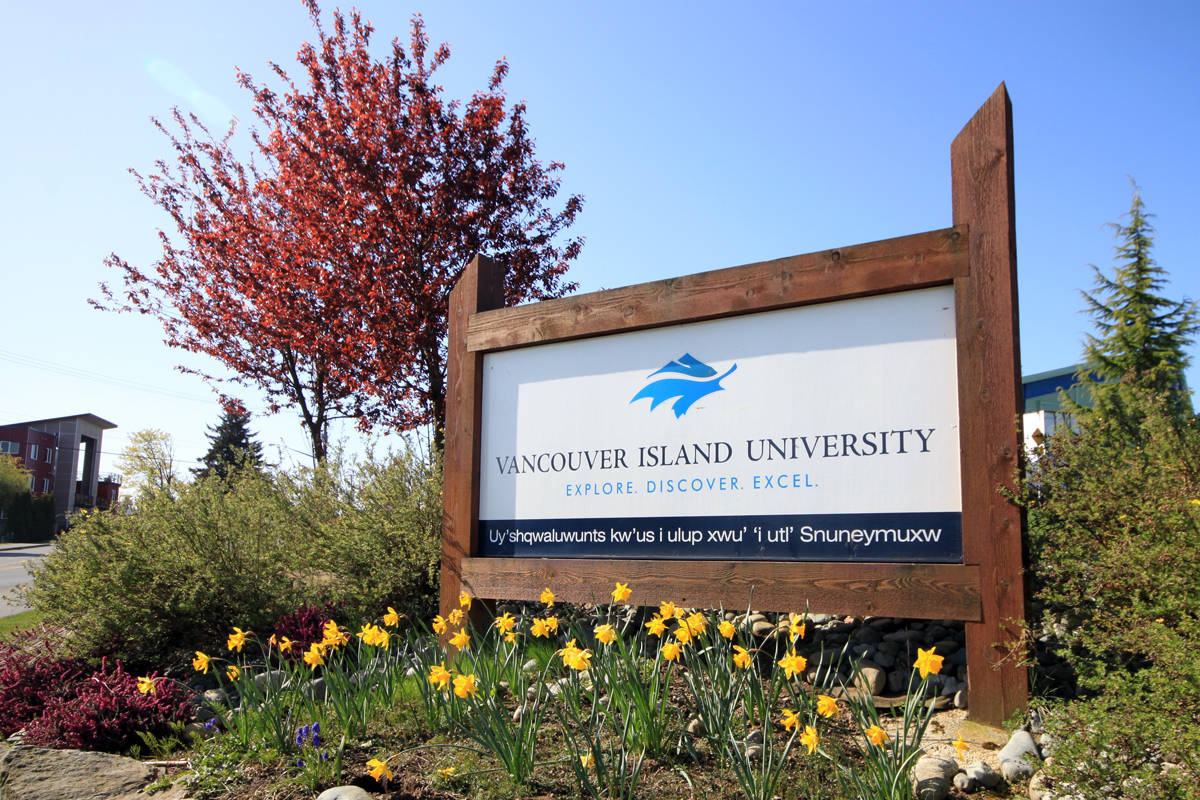 Vancouver Island University is one of the post-secondary institutions in B.C. expecting operating deficits this year and next year. (Nanaimo Bulletin)