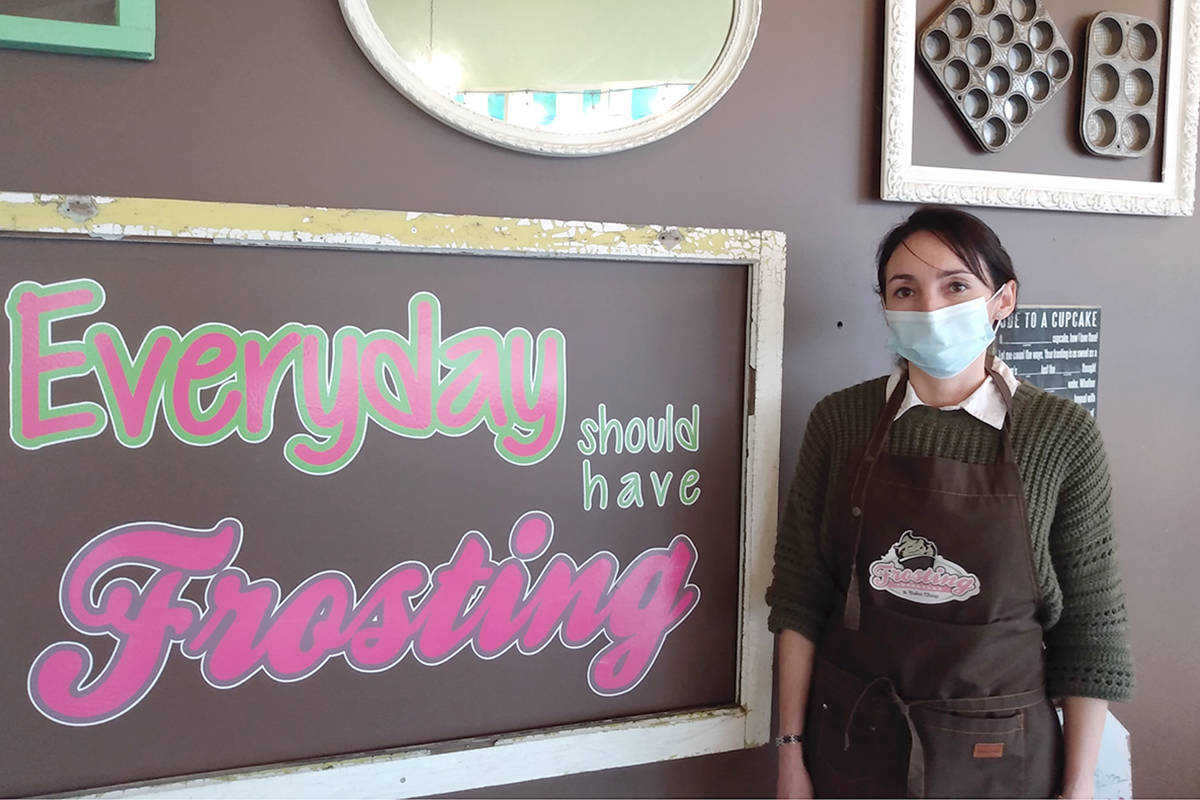 New Directions graduate Jenifer Gomez opened her new business Frosting Cupcakery & Bake Shop the same week she earned her LINC 8 certificate the last week of January 2021. (Yvonne Hopp/Special to Langley Advance Times)