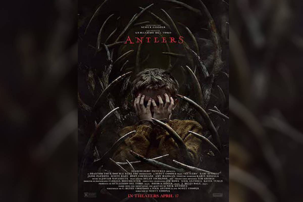 """Antlers"", a horror movie filmed primarily in Hope, is set to premier Oct. 29. (Graphic/IMDB)"