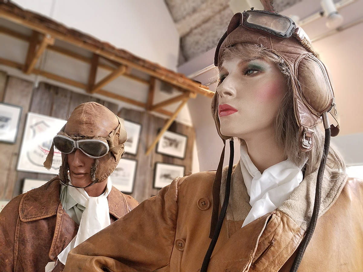 Vintage flying gear on display at the Canadian Museum of Flight at Langley airport on Sunday, Feb. 14 (Dan Ferguson/Langley Advance Times)