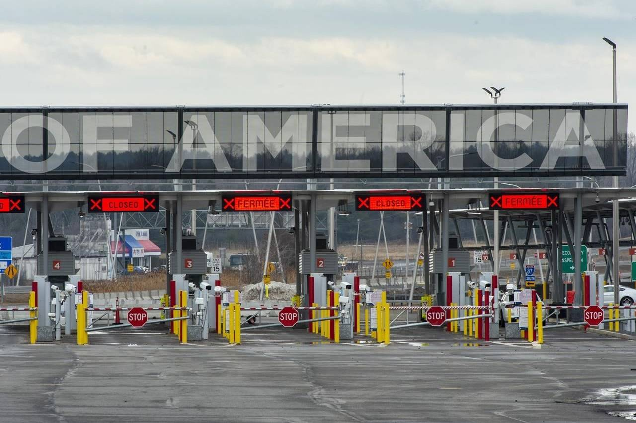 The United States border crossing is seen Friday, March 20, 2020, in Lacolle, Que. THE CANADIAN PRESS/Ryan Remiorz