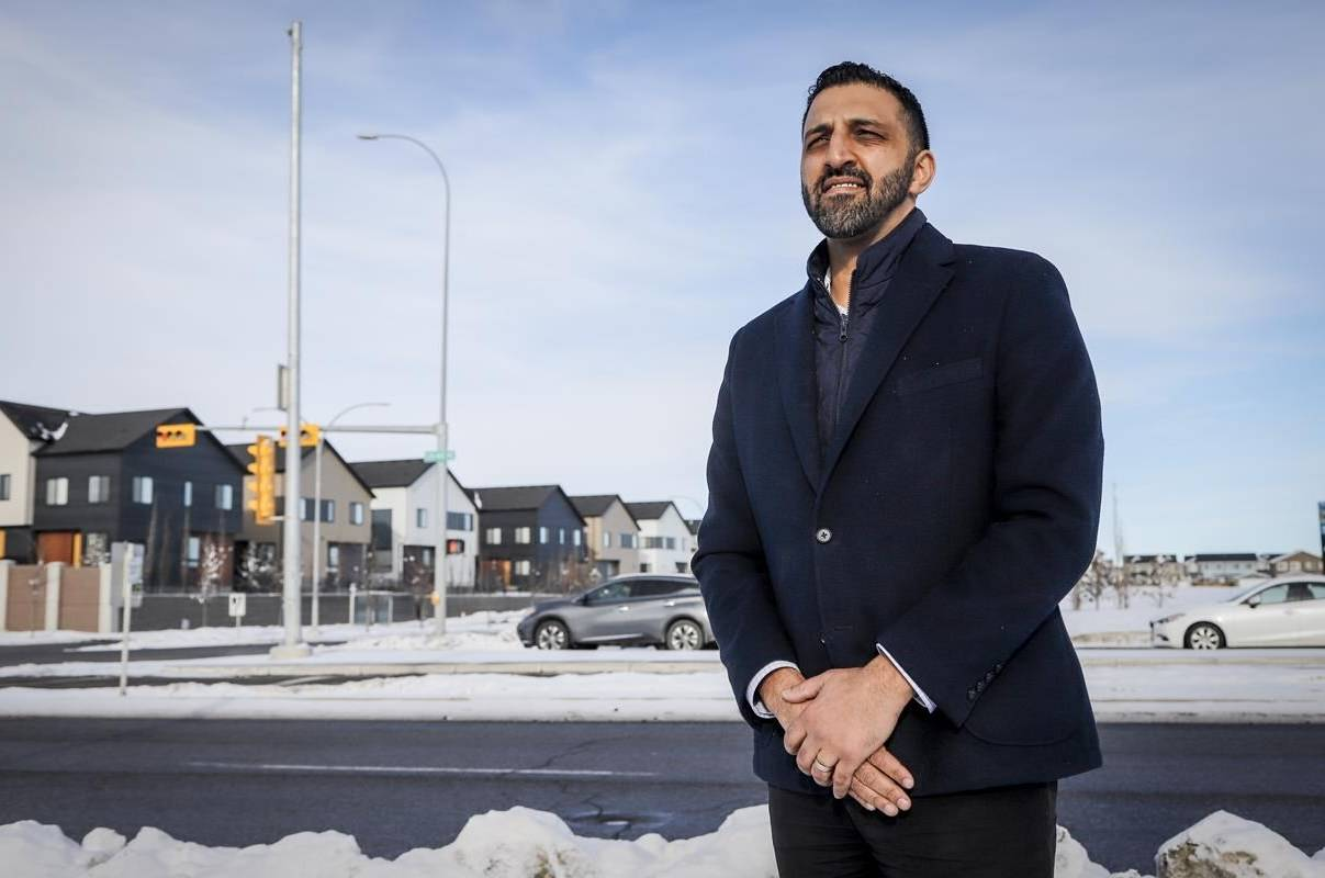 Calgary city councillor George Chahal in the Skyview Ranch community in Calgary, Alta., Saturday, Jan. 30, 2021.THE CANADIAN PRESS/Jeff McIntosh