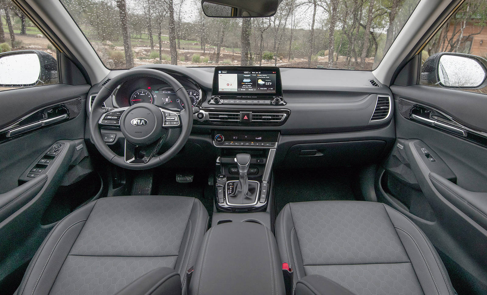 The Seltos's interior is highly detailed but not overdone. OK, the optional Bose audio package with flashing lights might be overdoing it a bit. PHOTO: KIA