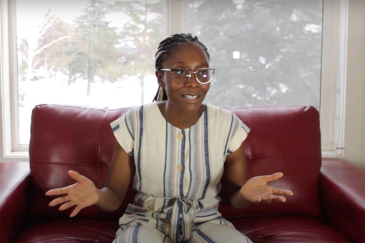 Sylvia Okonofua, of the University of Regina's Stem Cell Club. (YouTube)