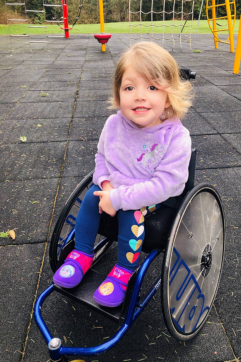 Langley's Violet Flannigan, 4, will be appearing on the three-day Variety Show of Hearts telethon that begins Thursday, Feb. 18, 2021 (Special to Langley Advance Times)
