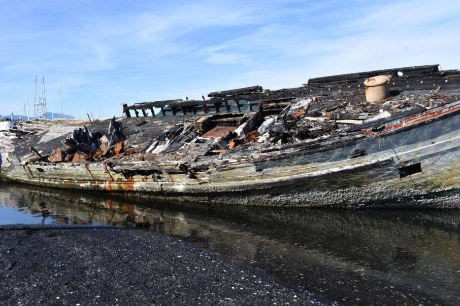 A derelict vessel in Ladysmith. (Black Press file photo)