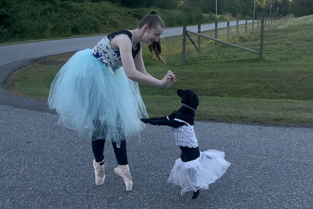 Michaela, a senior 4-H member, with her dog Astra for the Chilliwack Fair photo contest. (Special to The Star)