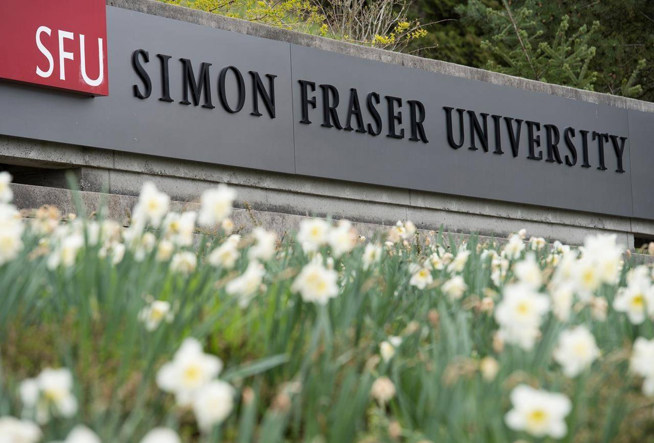 Simon Fraser University is pictured in Burnaby, B.C., on April 16, 2019. THE CANADIAN PRESS/Jonathan Hayward