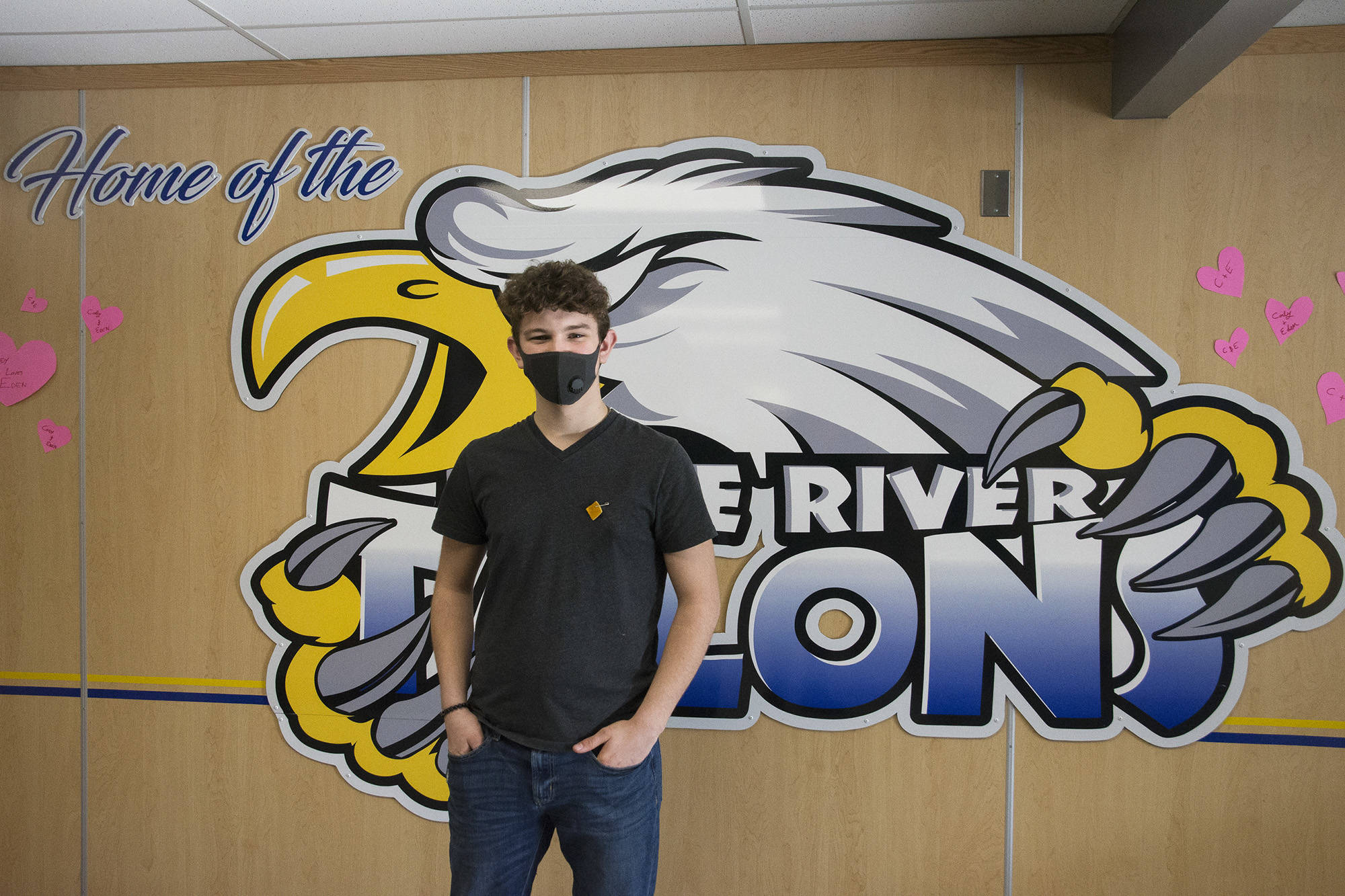 Cody Hutchinson, a Grade 9 Student at Eagle River Secondary in Sicamous, organized a cellphone detox for his classmates, which ended on Thursday, Feb. 11. (Jim Elliot - Eagle Valley News)