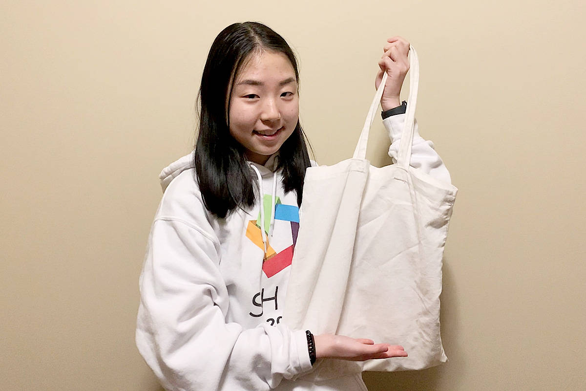 Create a design for a blank bag and it could adorn hundreds of bags to be sold as a fundraiser for the Langley School District Foundation's Food For Thought program, organized by Chloe Kim of Walnut Grove Secondary. (Chloe Kim/Special to the Langley Advance Times)