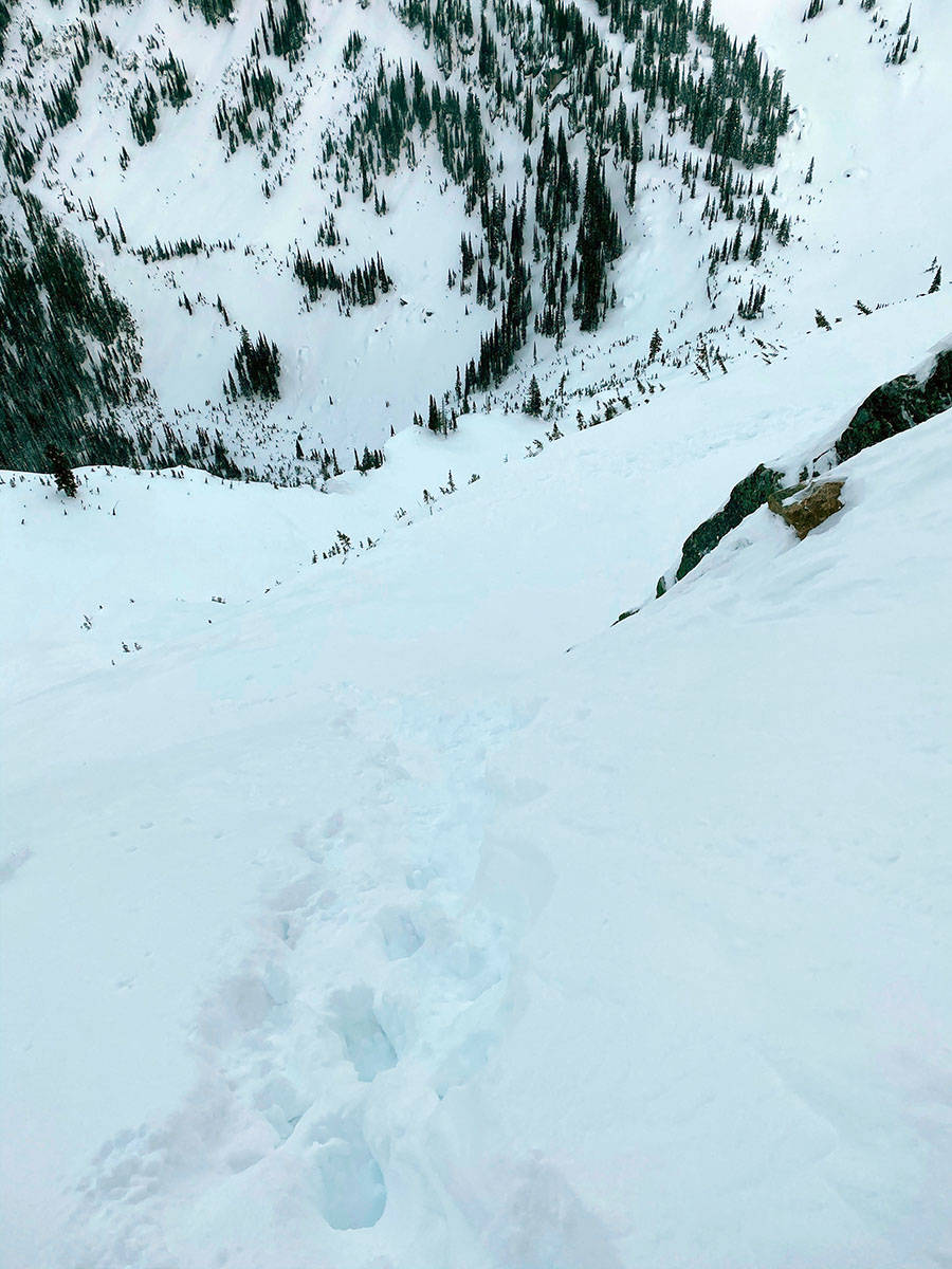 Blaine Penner survived an avalanche in Norns Range. Photo: Blaine Penner