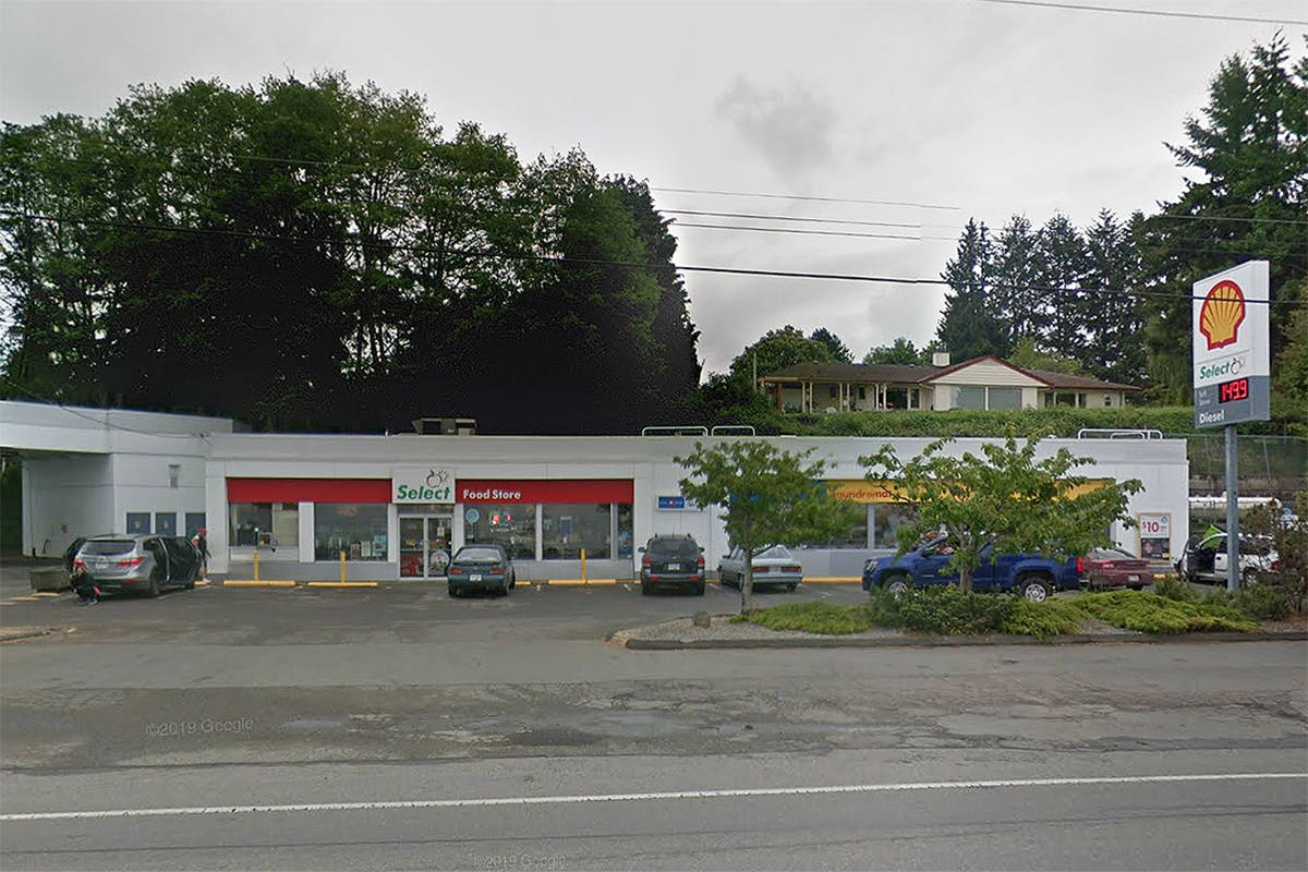 Shell gas station in Qualicum Beach, located at 2712 Island Highway W. (Google Maps photo)