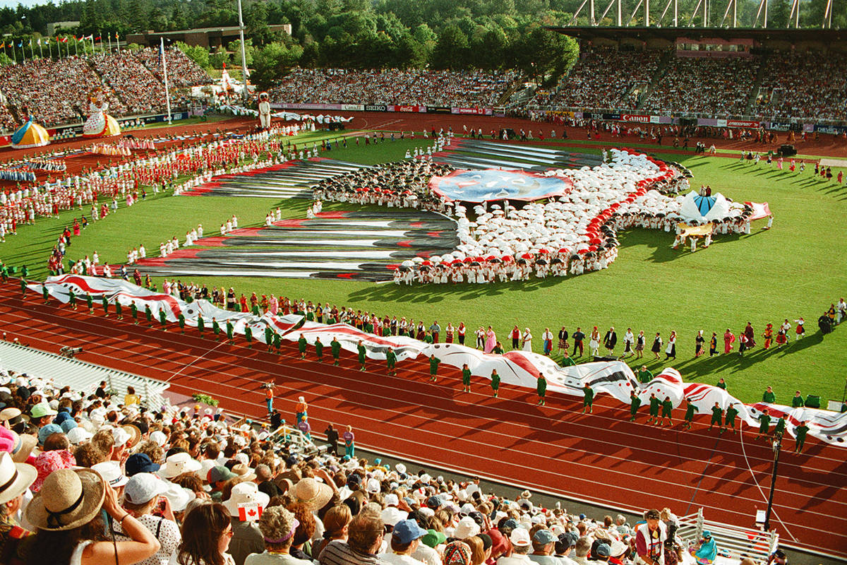 Opening ceremonies for the 1994 Commonwealth Games in Victoria (University of Victoria photo)