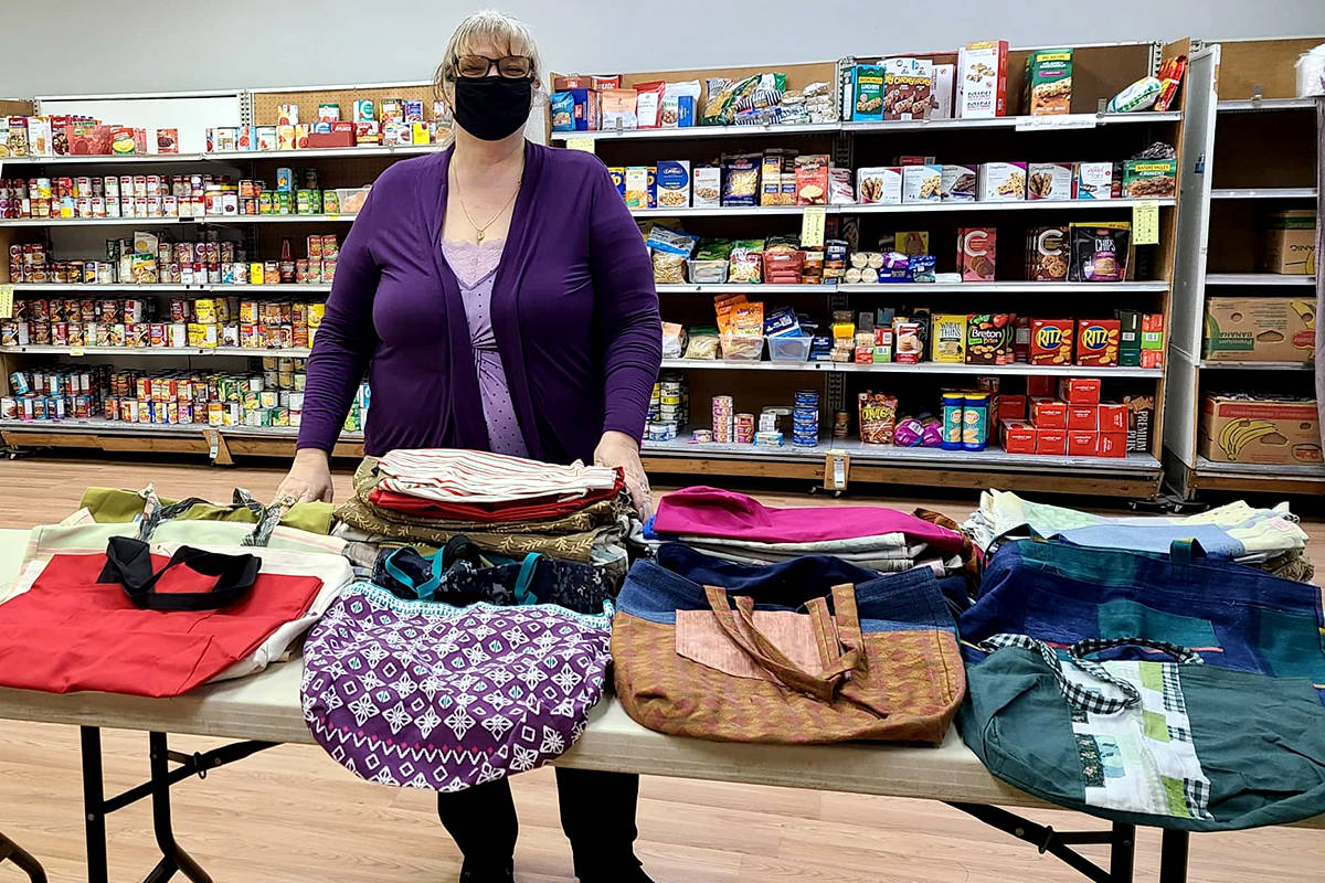 Fabric Bag Solution donated 75 handmade bags to the Aldergrove Food Bank to make collections easier. (Aldergrove Food Bank/Special to The Star)