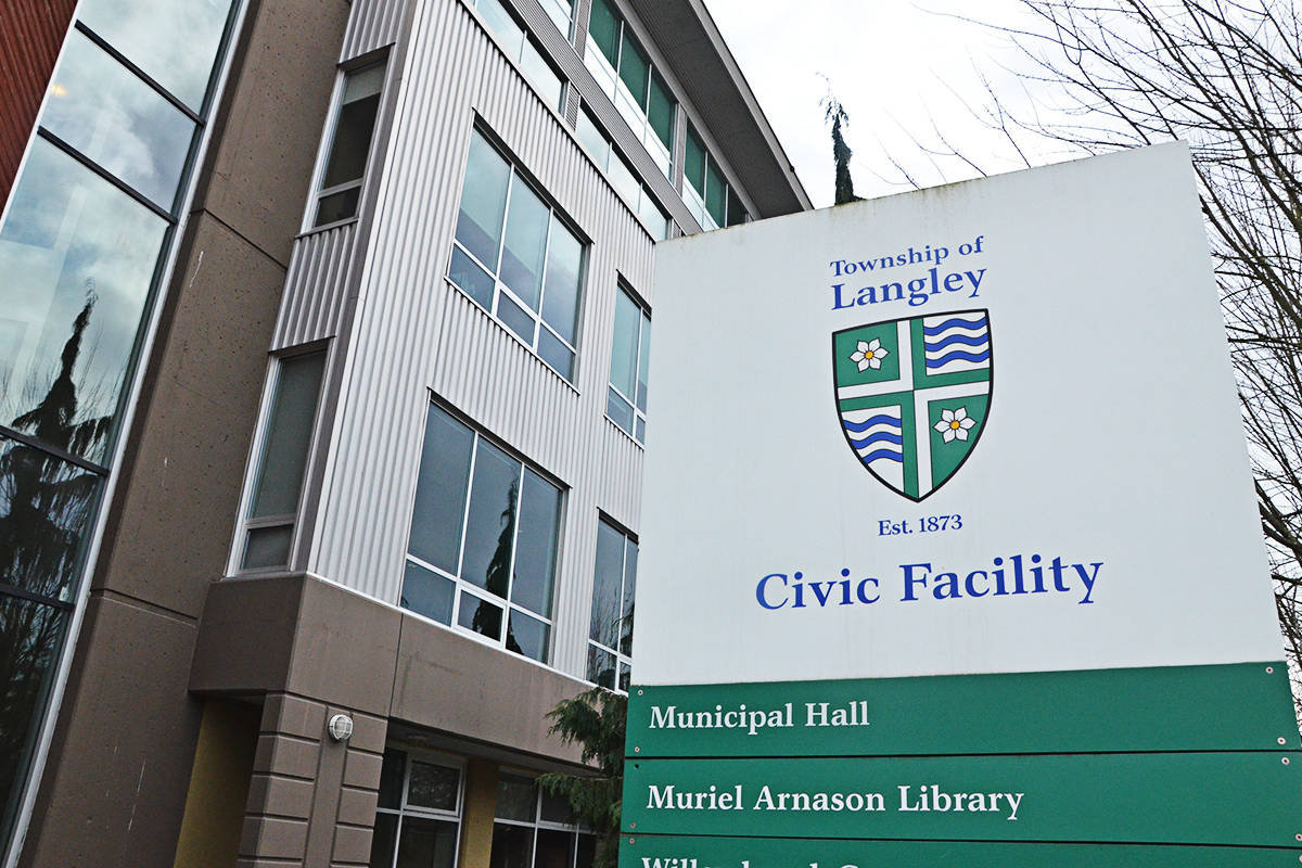 Langley Township council will debate a plan for a 3.99 per cent property tax increase this year. (Langley Advance Times files)