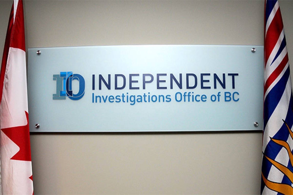 The Independent Investigations Office of BC (IIO) (File Photo). B.C.'s IIO is the independent civilian oversight agency of police, and investigates all officer-related incidents resulting in serious harm or death.