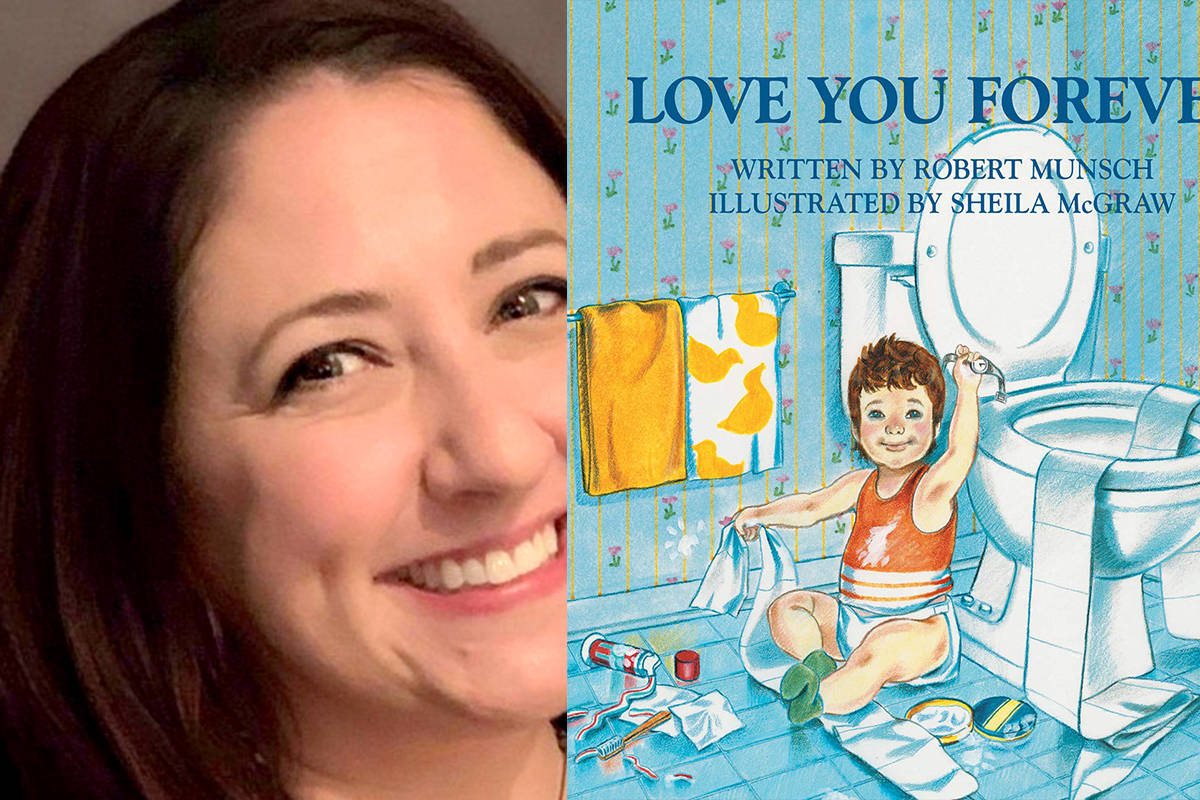 School Board Trustee candidate Holly Dickinson said her favourite children's book is Love You Forever by Robert Munch. (Special to The Star)