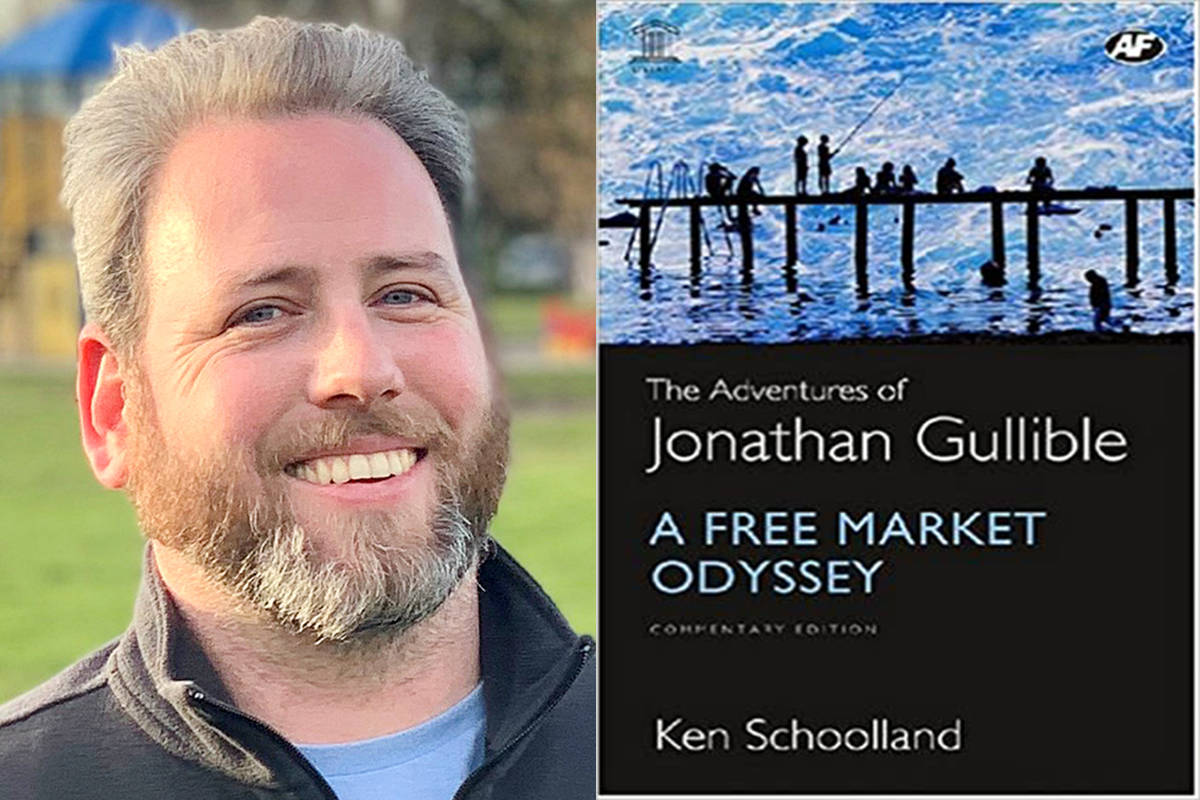 """School Board Trustee candidate Alex Joehl said his favourite children's book The Adventures of Jonathan Gullible,"""" by Ken Schoolland. (Special to The Star)"""