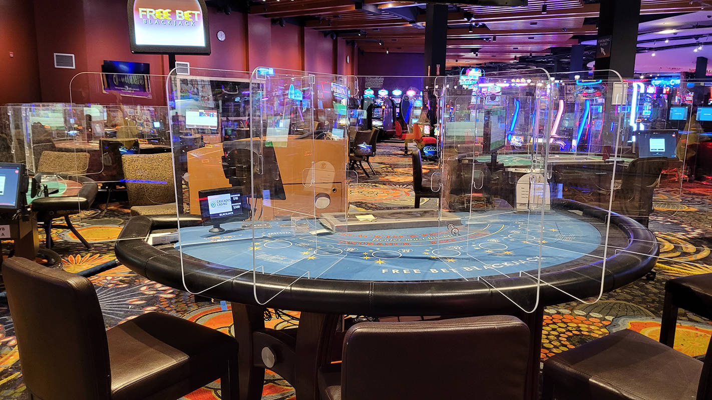 Cascades Casino in Langley City has taken steps to prepare for reopening, whenever it is allowed. (Tanya Gabara/Special to Langley Advance Times)