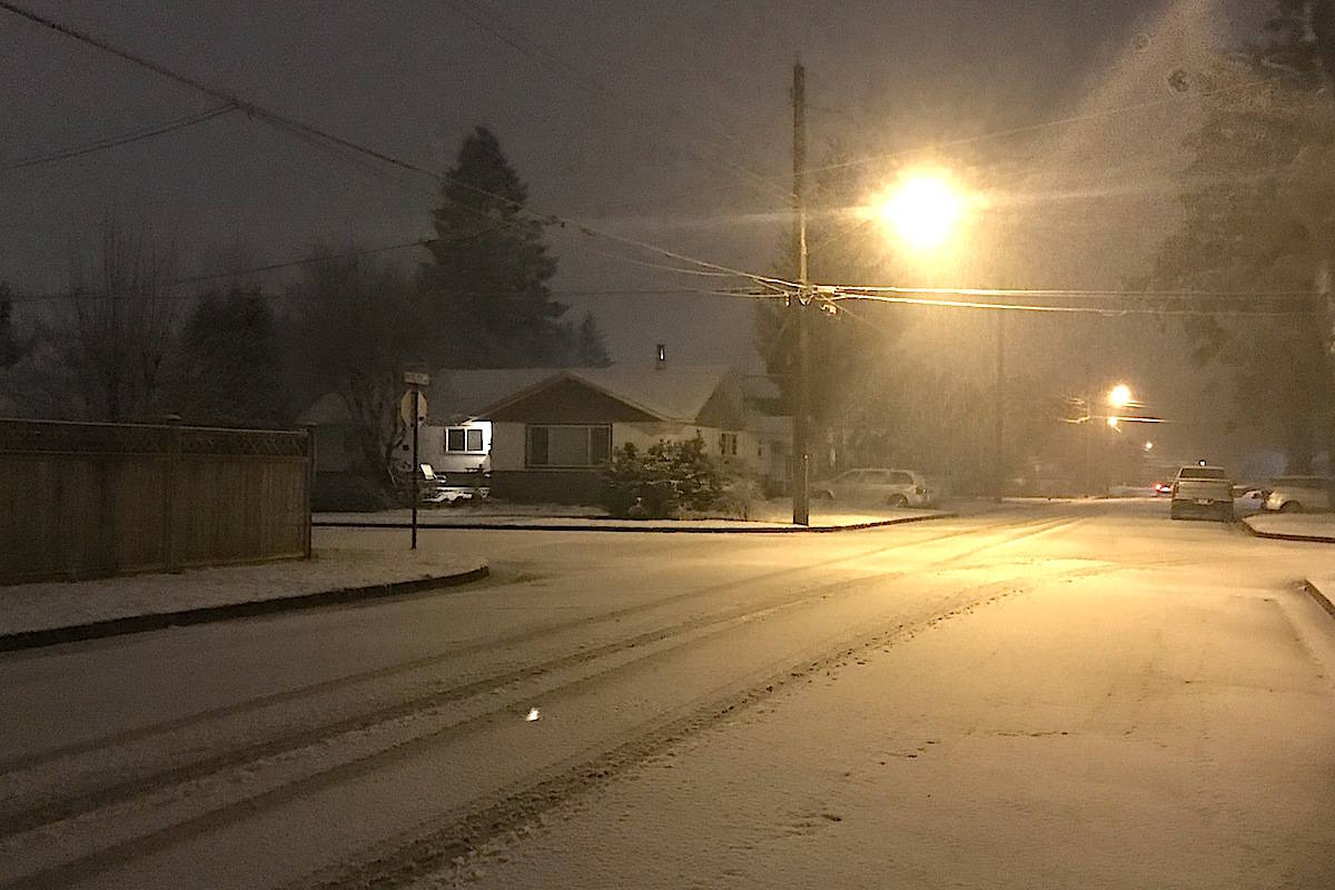 Snowfall warnings Thursday, Feb. 25, 2021 for parts of the Fraser Valley and Fraser Canyon. (Jennifer Feinberg/The Chilliwack Progress)
