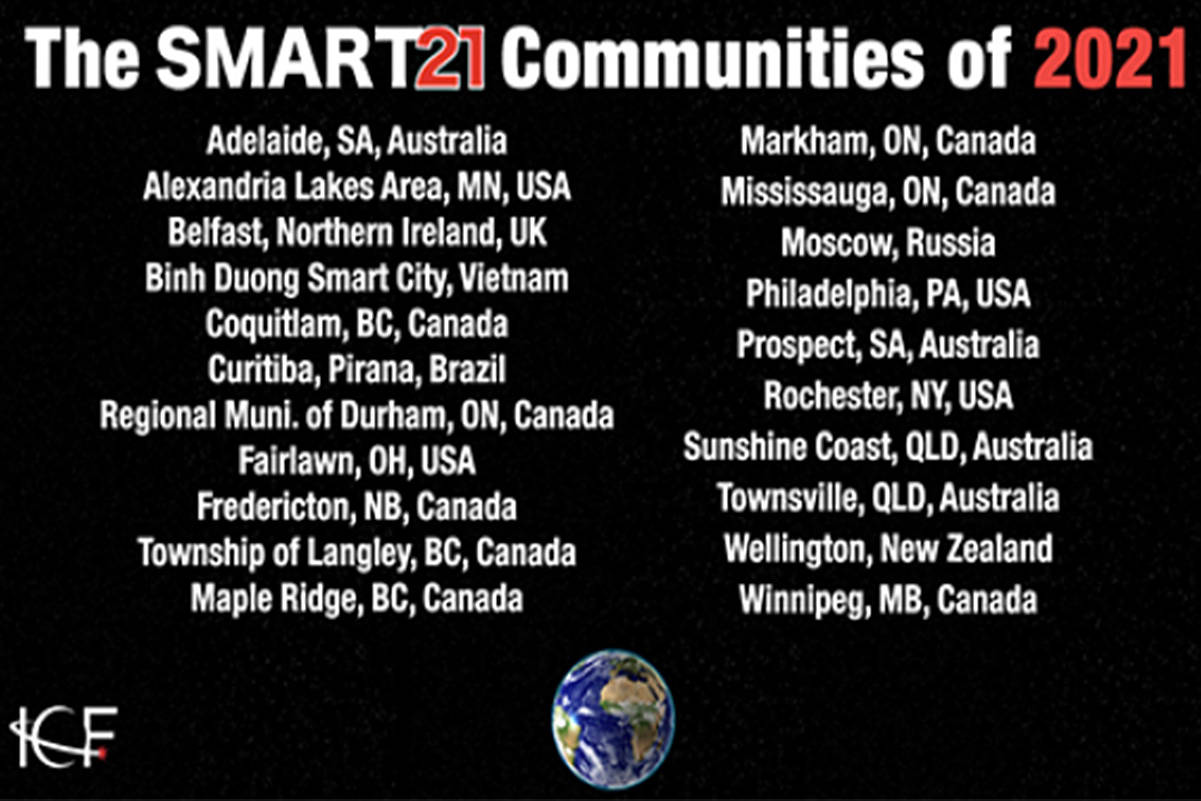 Maple Ridge and Langley Township have made the Smart21 list.