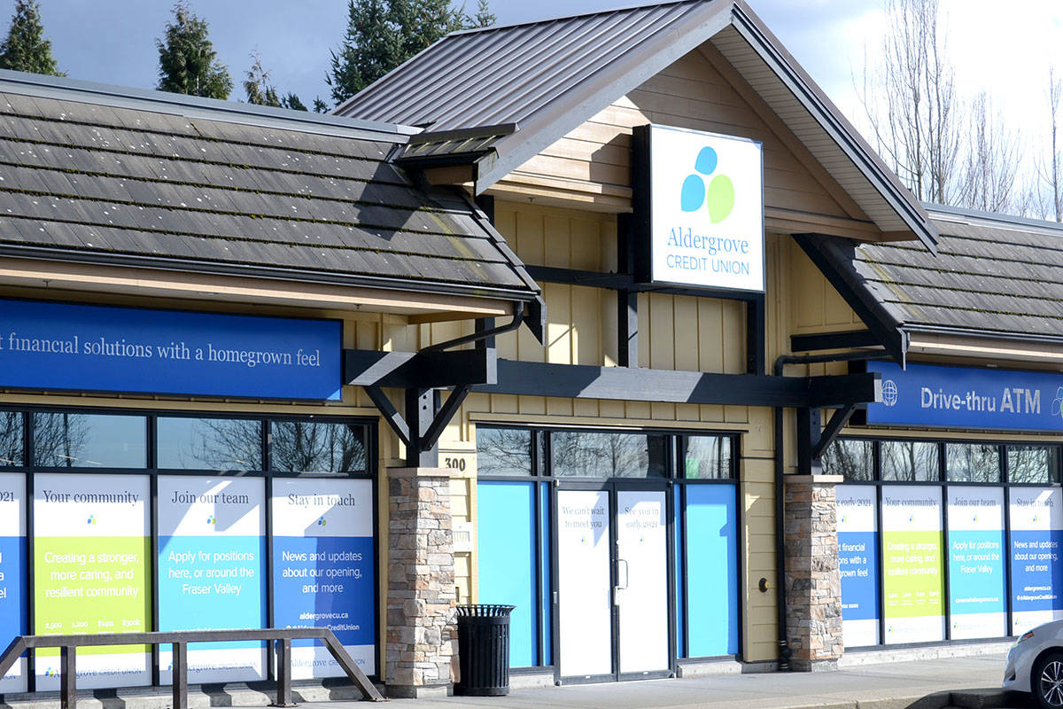 Aldergrove Credit Union's Willoughby branch opens March 9. (Ryan Uytdewilligen/Special to The Star)