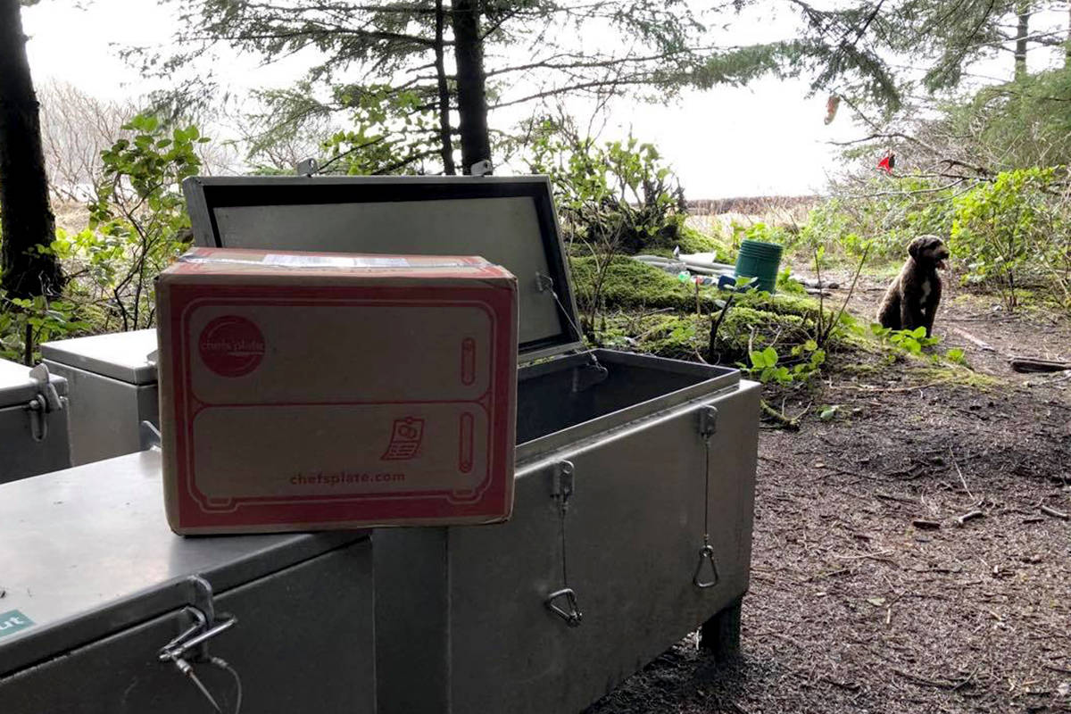 Spotted: A meal prep kit at a bear cache on a recent camping trip in B.C. (Marg Leehane photo)