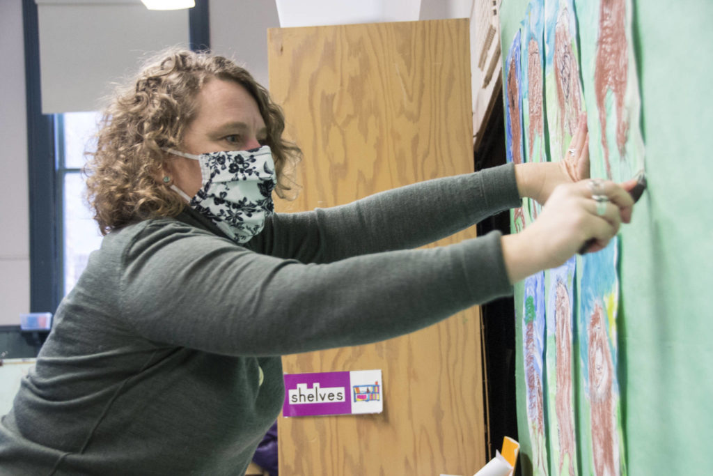 Carolyn Howe, a kindergarten teacher and vice president of the Greater Victoria Teachers' Association, says educators are feeling the strain of the COVID-19 pandemic and the influx of pressure that comes with it. (Nina Grossman/News Staff)