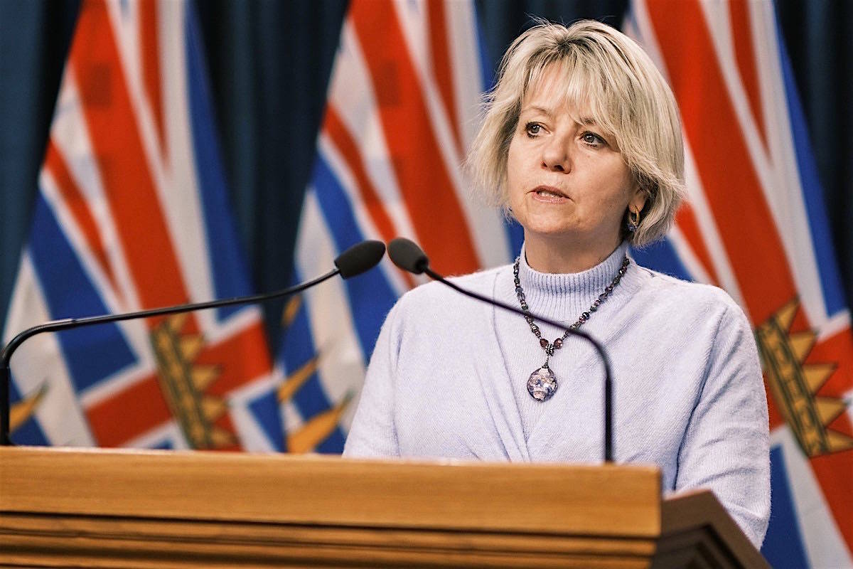 Provincial health officer Dr. Bonnie Henry updates B.C.'s COVID-19 situation at the B.C. legislature. (B.C. government)