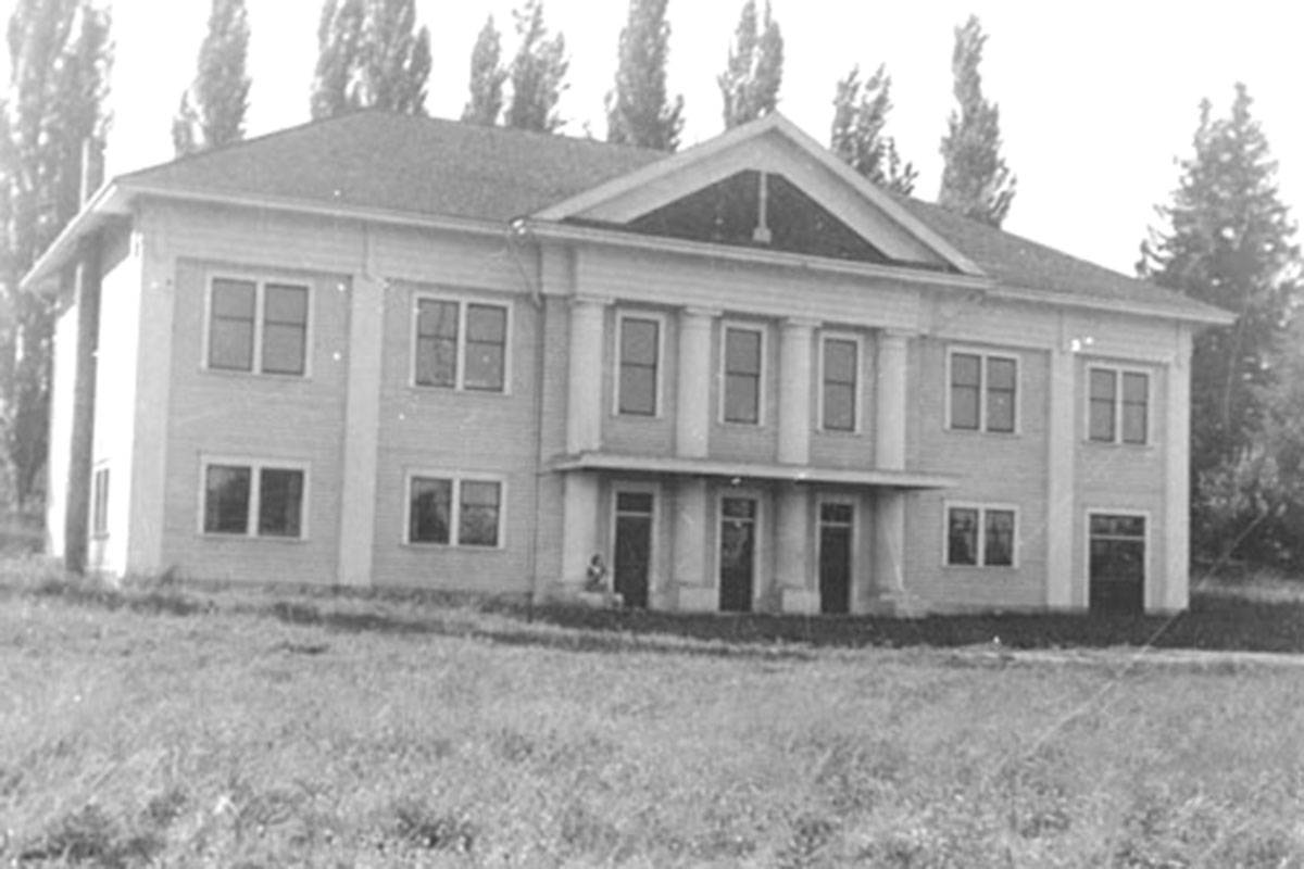 Fort Langley Community Hall in 1932. (Langley Centennial Museum/Special to The Star)