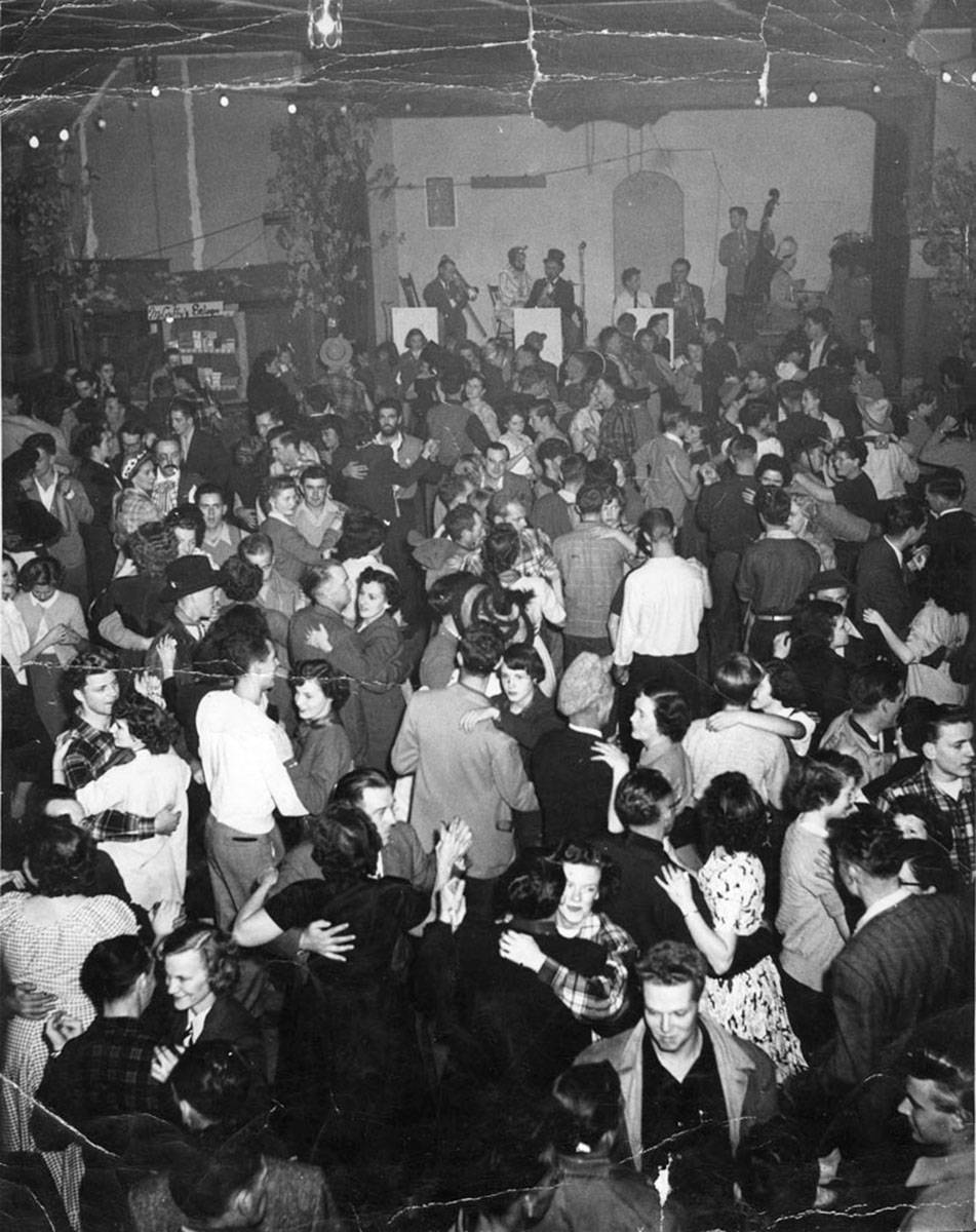 Dancing in the Fort Langley Community Hall during Klondike Nights in the 1950s. (Langley Centennial Museum/Special to The Star)