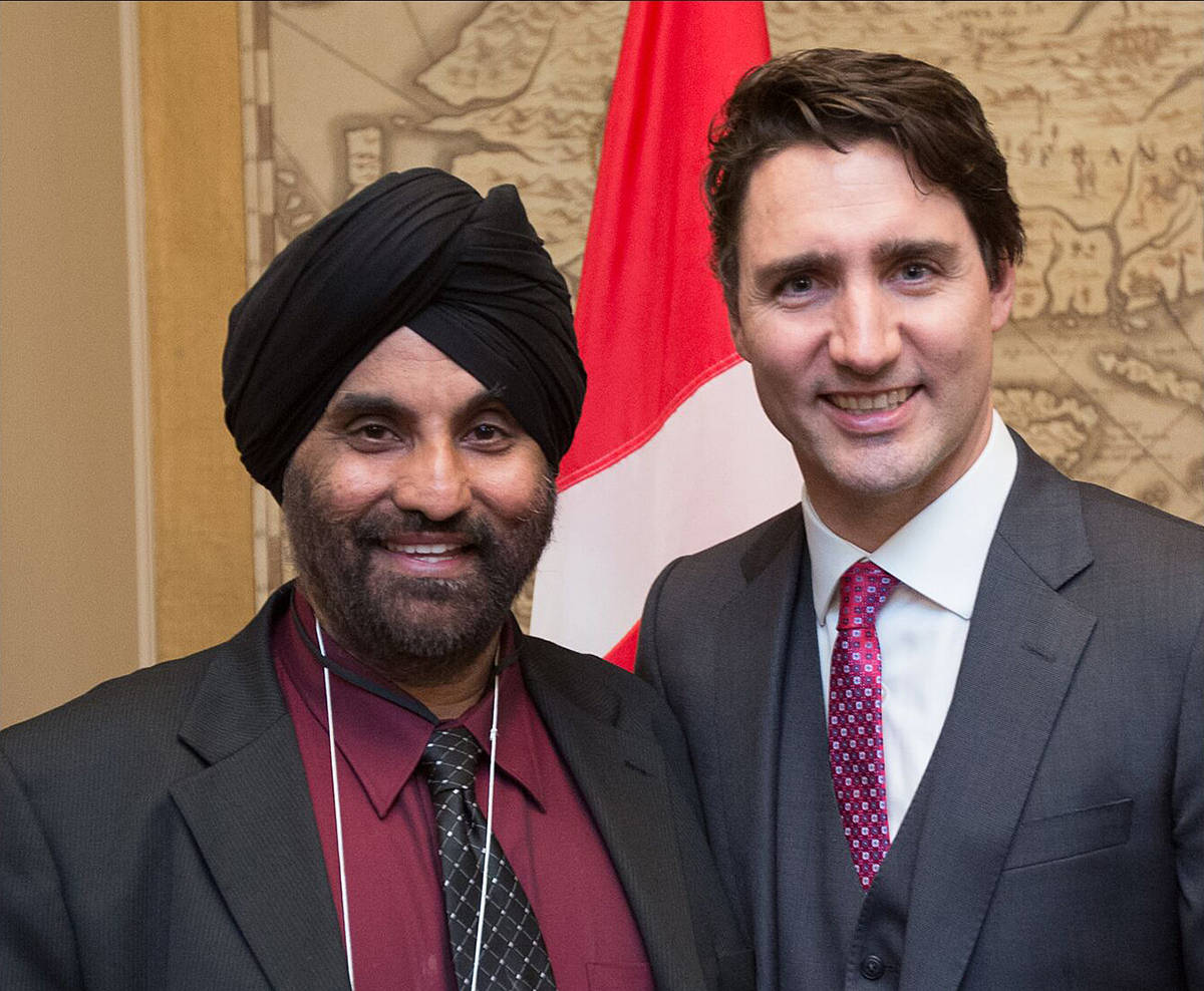 Raj Singh Toor, vice-president of the Descendants of the Komagata Maru Society, posed with Prime Minister Justin Trudeau in May 2016 when the federal government issued a formal apology for the Komagata Maru incident.