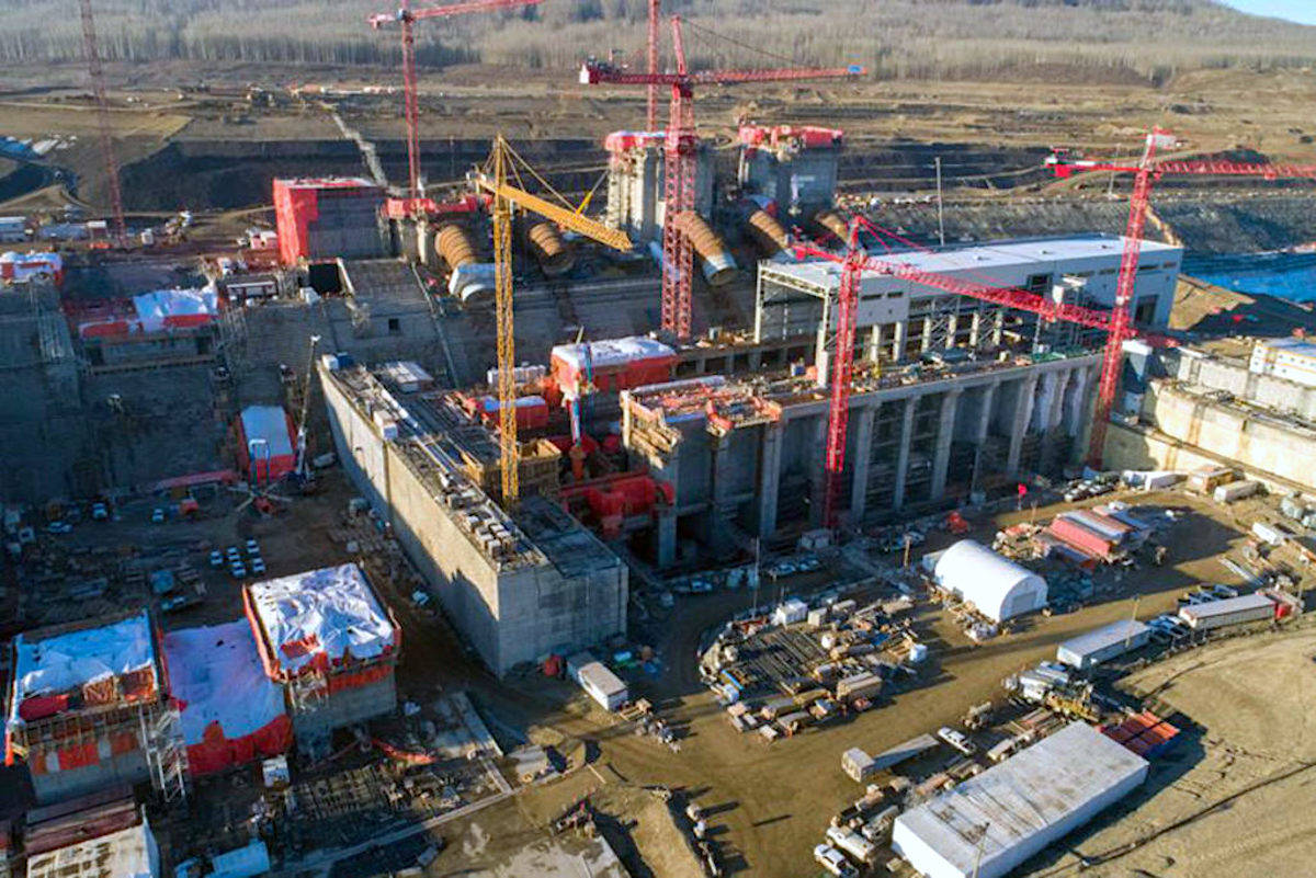 Site C will now go ahead, one year later and $5.3 billion more, the NDP announced Feb 26. (BC Hydro image)