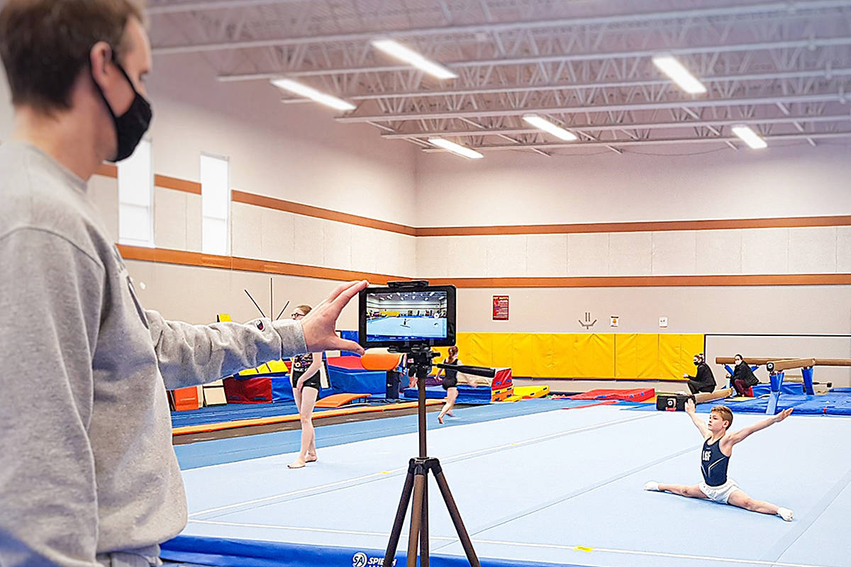 Recorded on video, Reuben Dykstra of the Langley Gymnastics Foundation competed in the Men's Artistic Gymnastics competition at the Christy Fraser Memorial Gymnastics Invitational (Tattina Maxim/Special to Langley Advance Times)