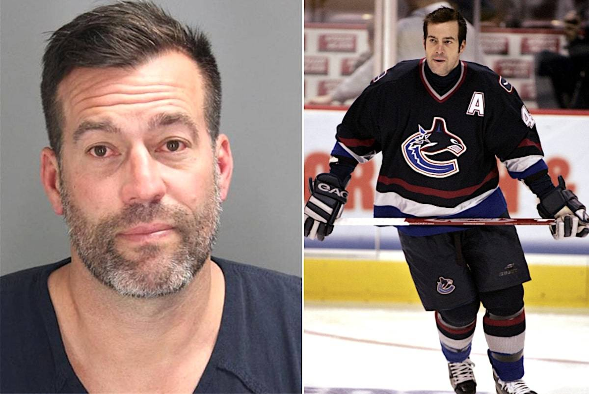 Left: Oakland County Jail. Right: Canuck Todd Bertuzzi on November 2, 2005. (CP/Chuck Stoody)